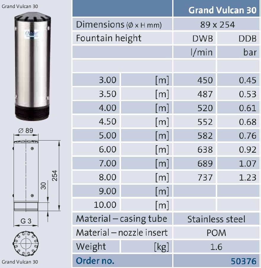 Фонтанная насадка Grand Vulkan 30