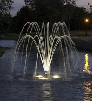 Aqua Control, плавающий фонтан Duble Arch, плавающий фонтан купить