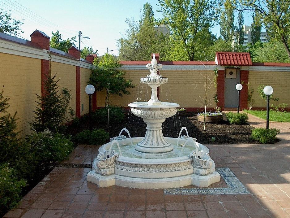 Сборные фонтаны из бетона