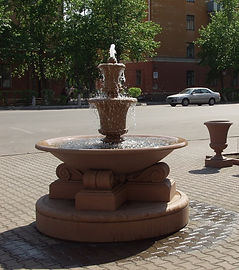 парковый фонтан, готовые фонтаны, облицовка борта фонтана, архбетон, архитектурный бетон, искусственный камень