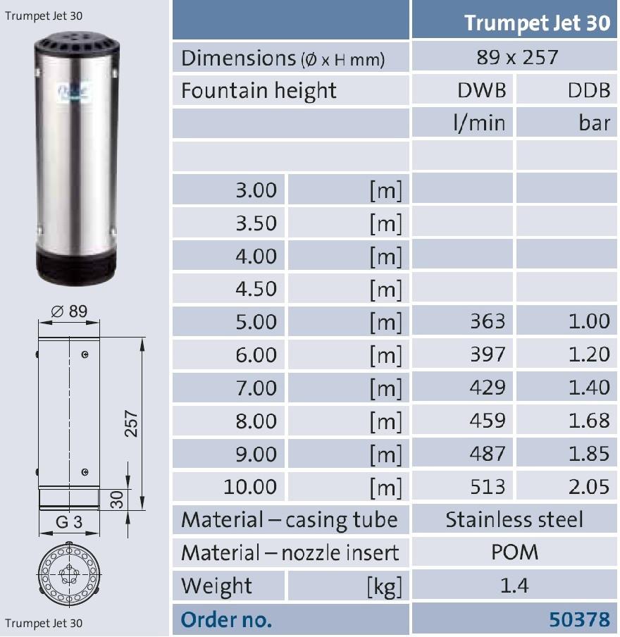 фонтанная насадка Trumplet Jet