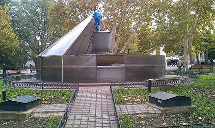 консервация фонтанов, укрытие фонтана