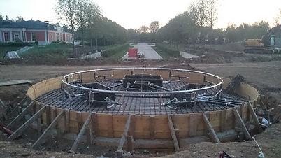 установка фонтанного оборудования, монтаж фонтана
