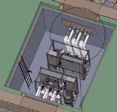 фонтан крестики нолики, проектирование фонтанов, боронд