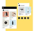 Loja online de cosméticos com produtos à venda na Amazon e Facebook.