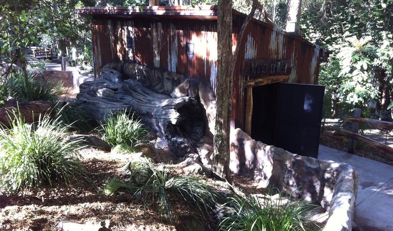 Gold Coast Wildlife Sanctuary - Wombat Enclosure