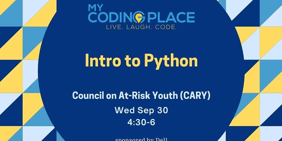 CARY Sep 30 Python workshop