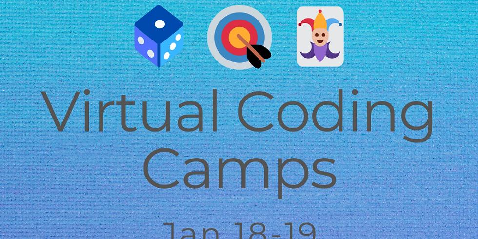 Jan 18-19 Virtual Coding Camps