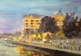 Evening stroll along Sisowath Quay