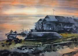 Sunrise at Tonle Sap