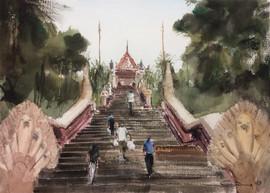 Giving Thanks at Wat Phnom