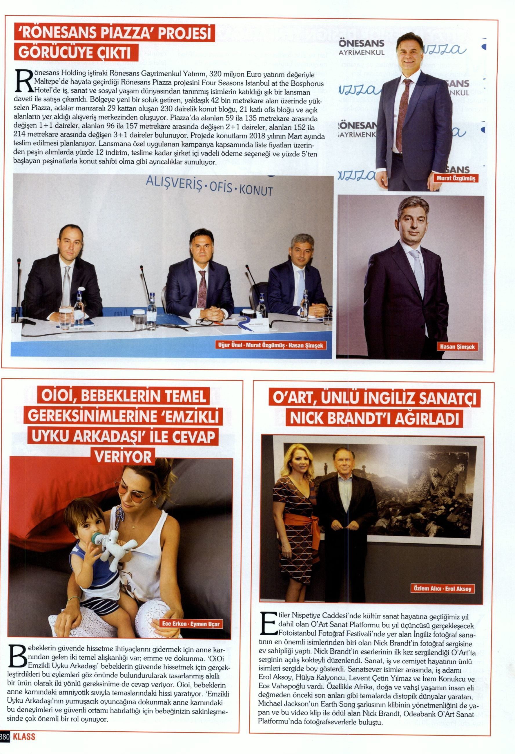Klass Magazin, Kasım 2016