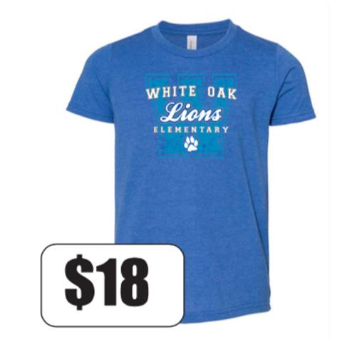 """W"" White Oak T-Shirt (Youth) - In Stock"