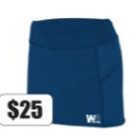 Girls Skort - White Oak Small Logo - In Stock