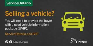 Selling a vehicle in Ontario?                   You must provide the buyer with a Used Vehicle Infor