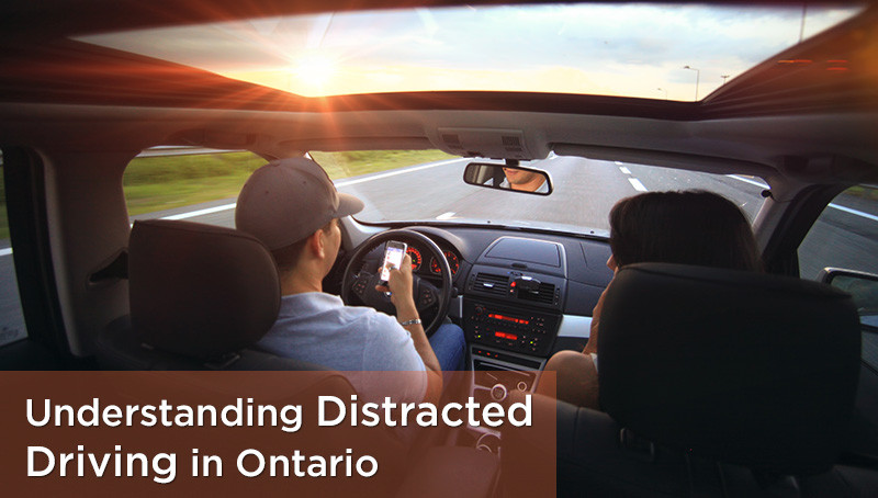 What is considered distracted driving in Ontario?