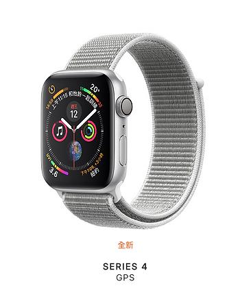 銀色鋁金屬錶殼搭配貝殼白色運動型錶環