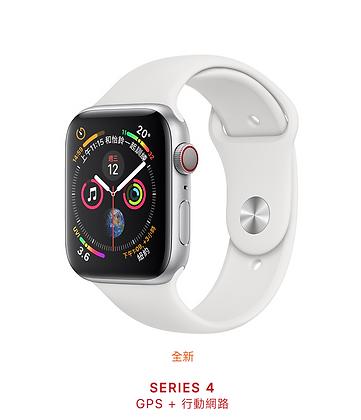 銀色鋁金屬錶殼搭配白色運動型錶帶