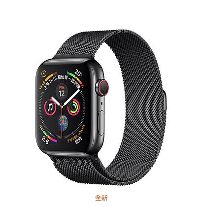 太空黑色不鏽鋼錶殼搭配太空黑色米蘭式錶環