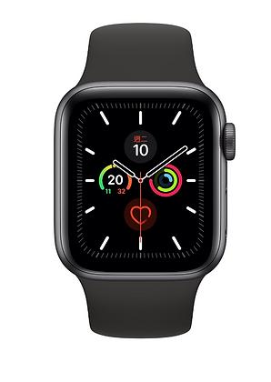 太空灰鋁金屬錶殼搭配黑色運動型錶帶
