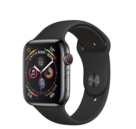 太空黑色不鏽鋼錶殼搭配黑色運動型錶帶