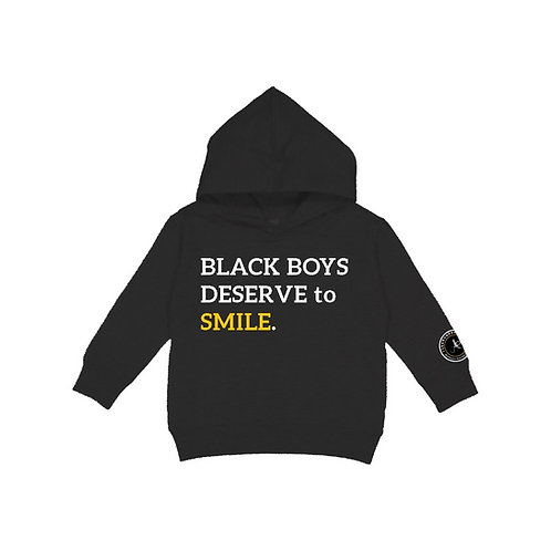 Black Boys Deserve to Smile Hoodie - Kids