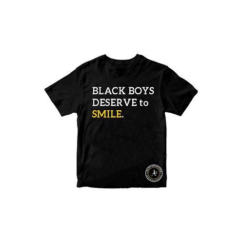 Black Boys Deserve to Smile Tee - Kids