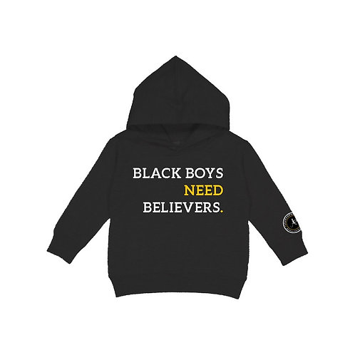 Black Boys Need Believers Hoodie - Kids