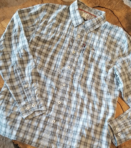 Simms Bugstopper Plaid Long Sleeve