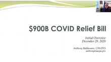 $900 COVID Relief Bill