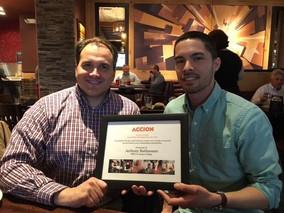 Anthony Baldassano recognized by Accion Chicago