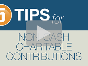 5 Tips for Non Cash Contributions