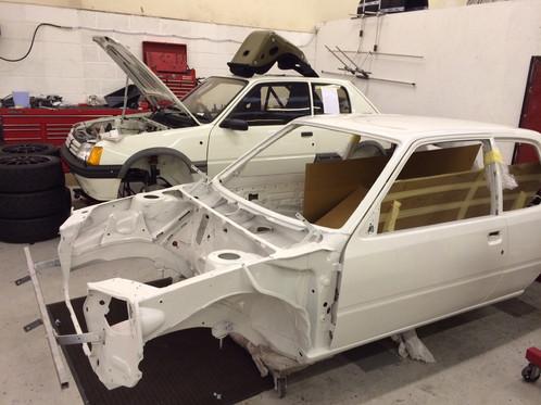new build 205 gti 1600 group a historic rally car | svp205cup