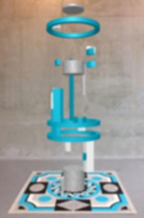 Sculpture virtuelle et tapis Marie Maillard
