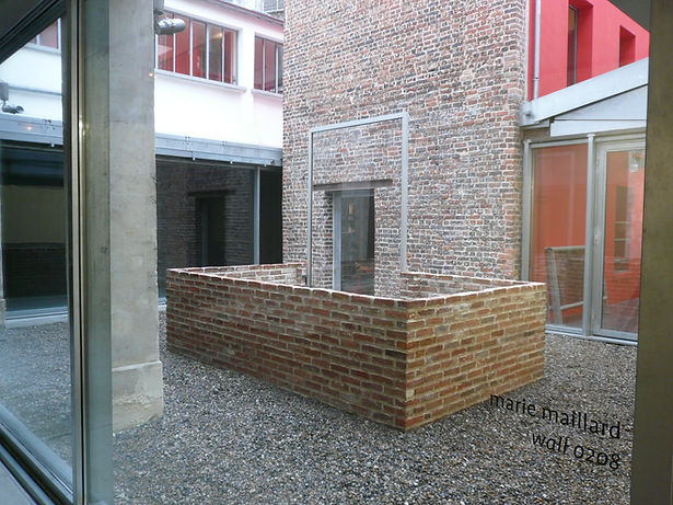 Installation de l'artiste Marie Maillard à la Maison Rouge à Paris