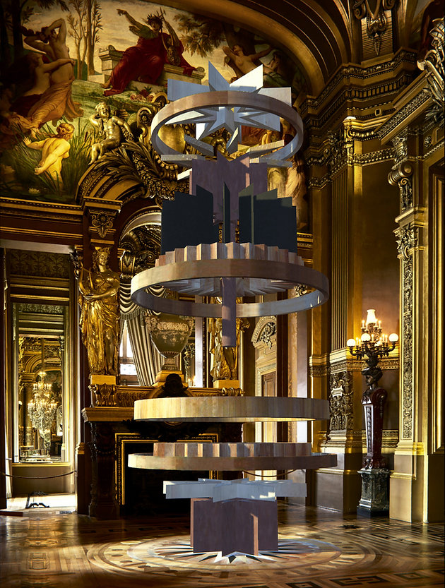 sculpture virtuelle de l'artiste Marie Maillard au Palais Garnier à Paris