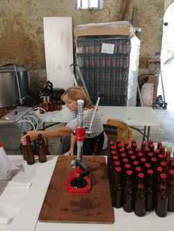 mise en bouteille bière manuelle