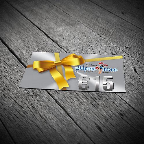 Alpenmax Geschenkkarte 15,-