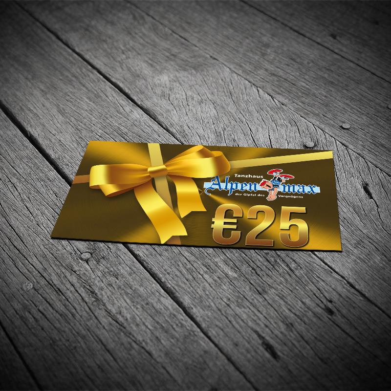 Geschenkkarte 25,-