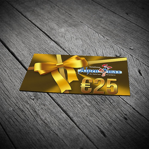 Alpenmax Geschenkkarte 25,-