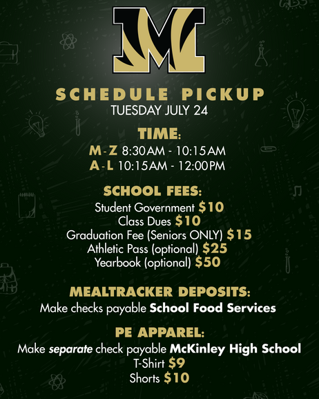 SY18-19 Schedule Pick-Up