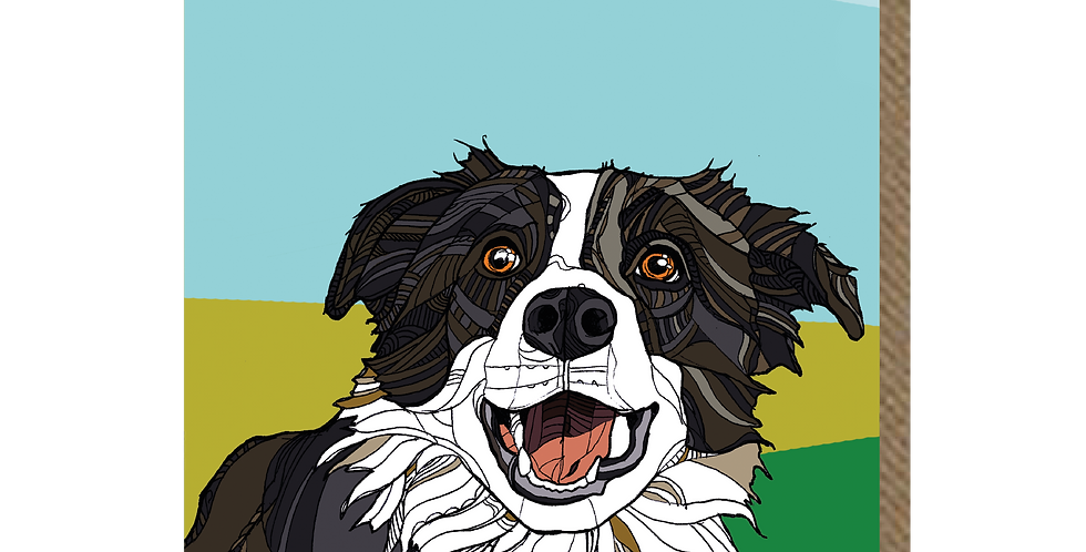 Curious Collie - A6 Card