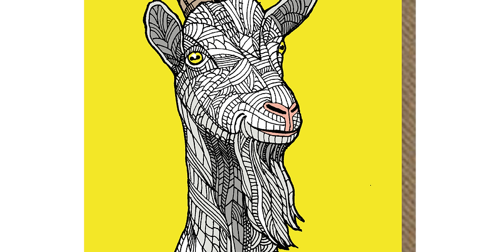 Great Orme Goat - A6 Card