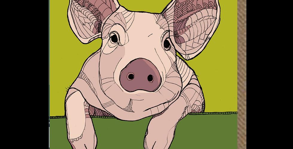 Perky Piglet -  A6 Card