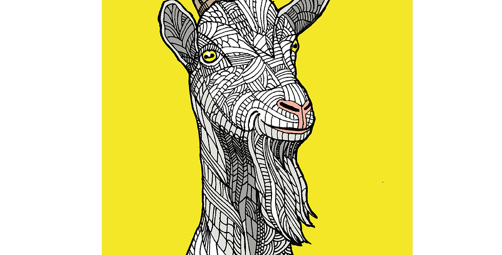 A4 Great Orme Goat - Signed and Numbered