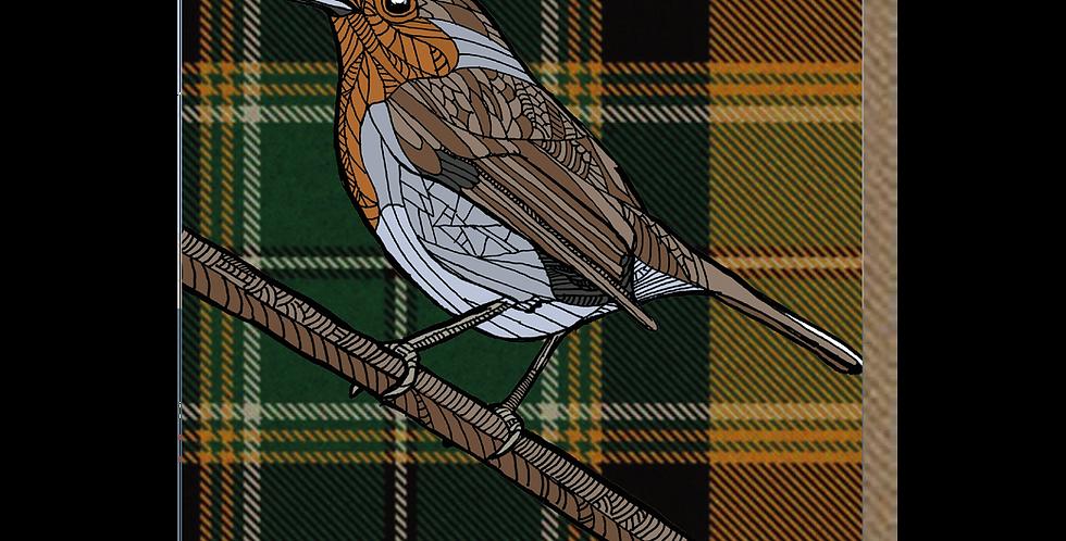 Tartan Robin - A6 Card