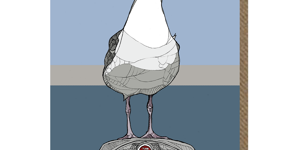 Seaside Seagull - A6 Card