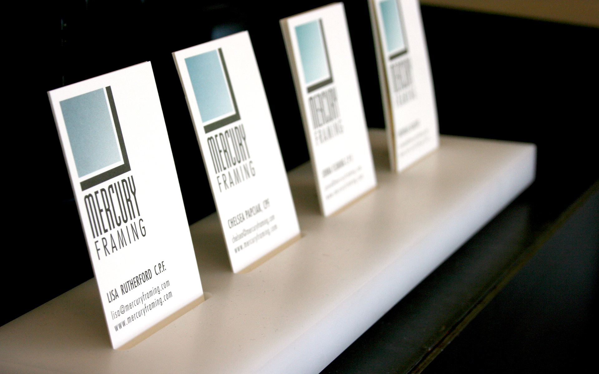 Mercury Framing Business Cards
