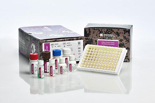 RELISA ENA Multiparameter kit para 12 pacientes (cada uno 6 antígenos)