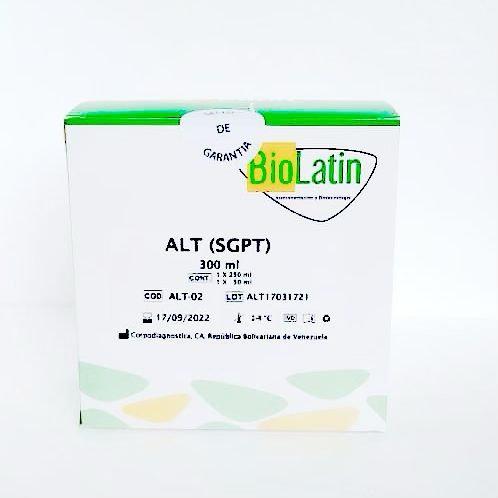AST (TGO) Reactivo Biolatin 1 x 250 mL / 1 x 50 mL